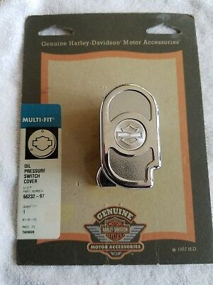 Harley Davidson Chrome oil pressure switch cover