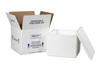 """Aviditi 214C Insulated Shipping Containers, 9 1/2""""L x 9 1/2""""W x 7""""D"""