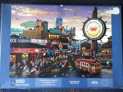 Fisherman's Wharf, By Alexander Chen 1000 Piece WH Smith Jigsaw Puzzle