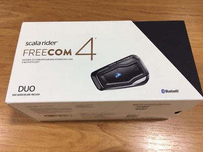 Cardo Scala Rider Freecom 4 Communication Kit Duo Intercom For 2 Person NEW