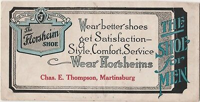 The Florsheim Shoe Advertising INK blotter - 7.5 x 3.75 Wear Better Shoes - Neat