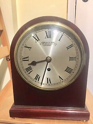 Antique Englis Made Single Chain Fusee Mantle Clock.c1890