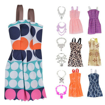 Jewellery Set For  Doll Dresses Shoes Clothes necklace Handmade DIY Accessories