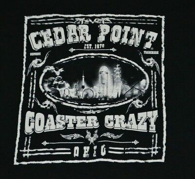 Cedar Point Sandusky OH Sandusky OH Coaster Crazy Amusement Park T Shirt Small