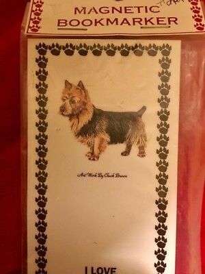 Magnetic Australian terrier magnetic book mark dog puppy New w/ tags