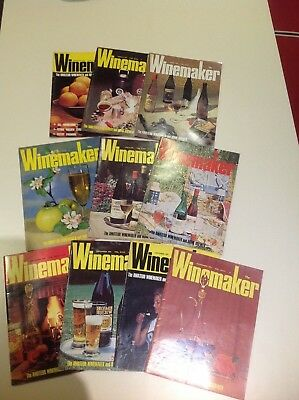 Vintage Winemaker Magazines 1975 Collection Of 10 For The Amateur Brewer