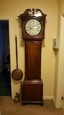 Antique Mahogany Sheffield 8 Day  Longcase / Grandfather Clock