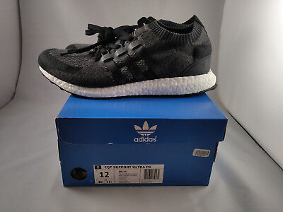 hot sale online a9ff5 75971 EQT Support Ultra PK 9316 EQT Support Ultra Primeknit Wooly Black Size 12  Men