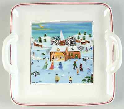 Villeroy & Boch NAIF CHRISTMAS  square handled plate  ~~ Nativity Scene