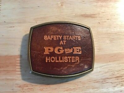 PG&E Pacific Gas and Electric Belt Buckle