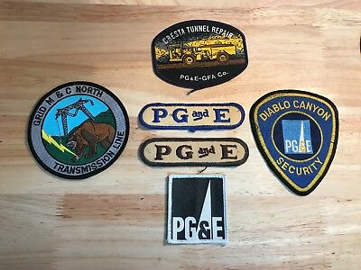 PG&E Pacific Gas and Electric Patches (6)
