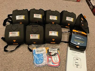 Lot of 8 Physio Control Medtronic Lifepak CR-T AED Training Trainer Units!