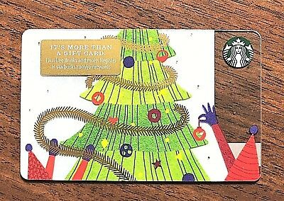 Starbucks Gift Card 2018 Tree Christmas Lights Snow Winter Holiday No $ Value