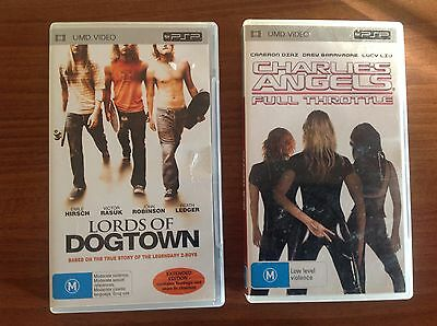 Sony Psp Movies Lords Of Dogtown Charlies Angels Full Throttle Heath Ledger