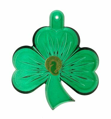 Waterford Crystal Green Shamrock Ornament New 2014 NEW IN THE BOX (s)