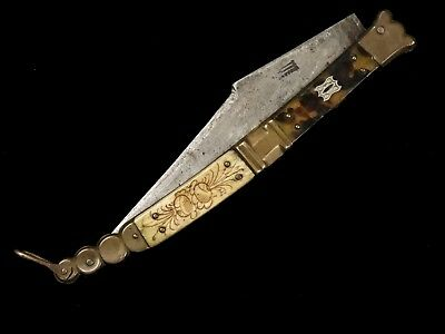 French Folding Knife Navaja style by Beauvoire 19th century