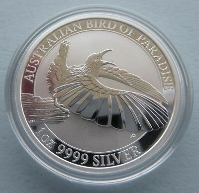 RARE: 2018 1 oz BIRD OF PARADISE 9999 SILVER BULLION COIN & FREE REGISTERED POST