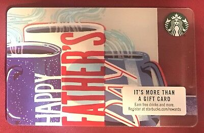 2018 New Starbucks Gift Card Happy Father's Day NO $ Value *free Shipping*