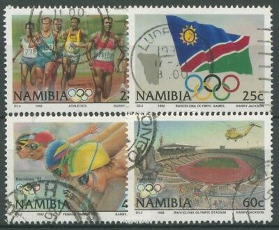 Namibia 1992 Olympische Sommerspiele Barcelona 727/30 gestempelt
