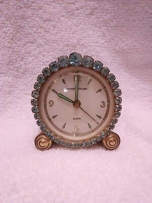 Vintage alarm clock wind up, made in Germany
