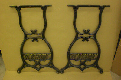 Antique Cast Iron Industrial Machine Age Table Base Legs New Home Vintage