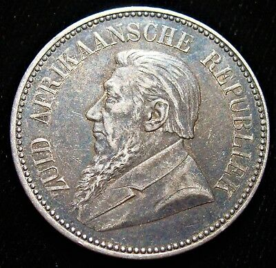 South Africa: Republic 2 1/2 Shillings 1897.