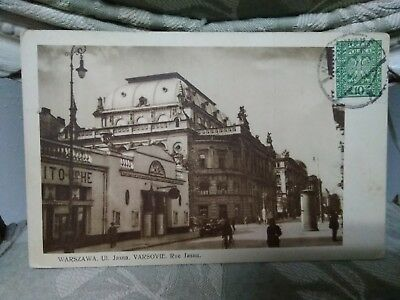 1932 Warsaw Poland  Postcard Cancelled Varsovie