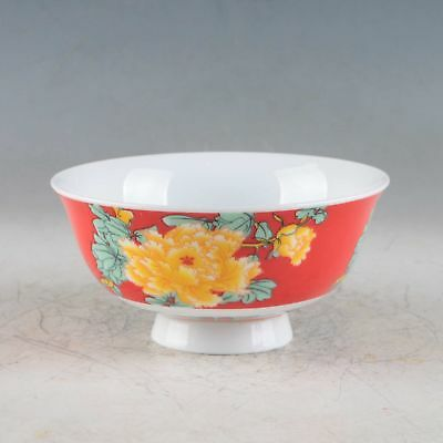Chinese Porcelain Handmade Flowers Bowl Made During The Qianlong Period XPZ015+b