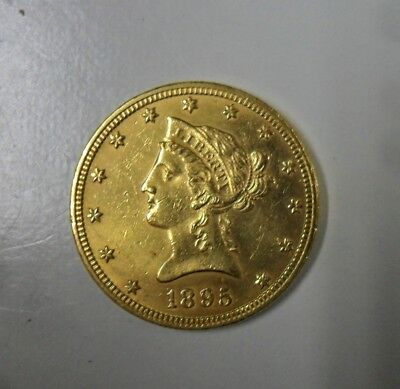 US ten dollar gold coin, 1895.  Don't know much about these, not my area of expe