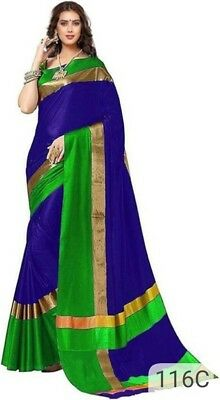 Designer Saree Multicolour Bollywood Saree Indian  Cotton Silk party wear Sari
