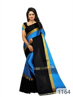 Indian  Cotton Silk party wear Sari Multicolour Bollywood Saree Designer Saree