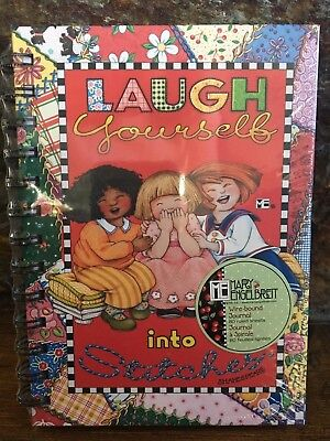 """NEW MARY ENGELBREIT Wire Bound Journal Notebook """"Laugh Yourself"""" ME Sealed"""
