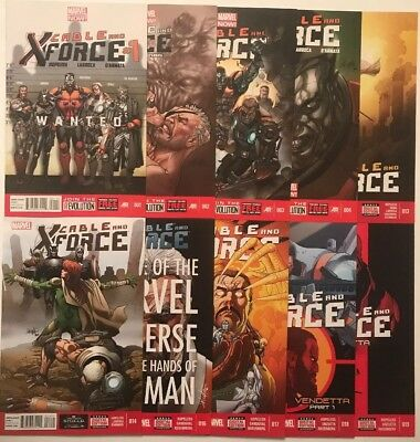 CABLE & X-FORCE #1-19 Lot Of 10 Issues, Marvel (2013-'14) 1st Ptg NM