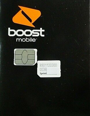 NEW BOOST MOBILE WHITE 64K sim card activation kit For IDEN