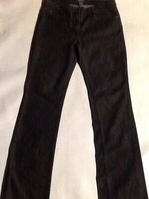 "KENNETH COLE Ladies Straight Leg Black Jeans 26/"" Waist x 33/"" Leg Trousers BNWT"