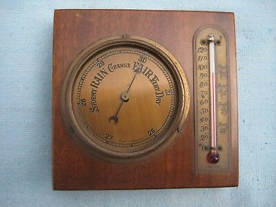 VINTAGE RETRO 1960s BAROMETER THERMOMETER. MADE IN ENGLAND.
