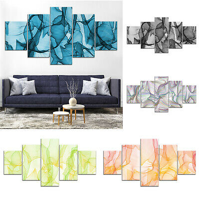 Abstract Artwork Canvas Print Painting Framed Home Decor Wall Art Poster 5Pcs