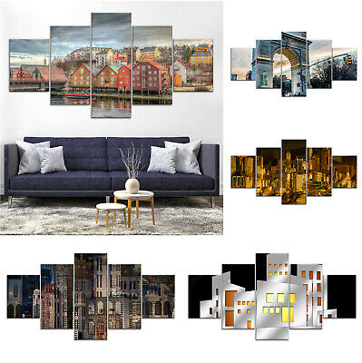 Architecture Cityscape Modern Abstract Canvas Print Painting Home Decor Wall Art