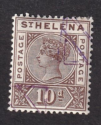 St. Helena 1890 10d brown S.G. 52 used