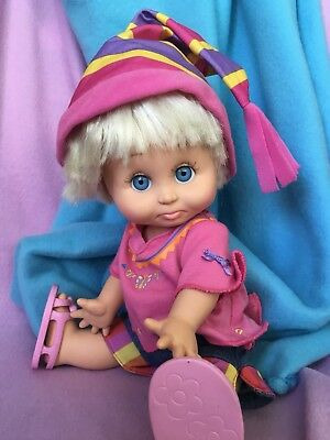 REDUCED, WAS 145.00!Galoob Baby Face Doll So Sorry Sara Dressed From Top To Toe!
