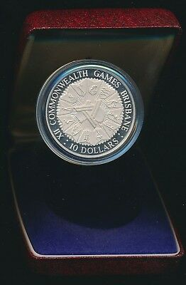 Australia 1982 $10 Sterling Silver Proof Commonwealth Games