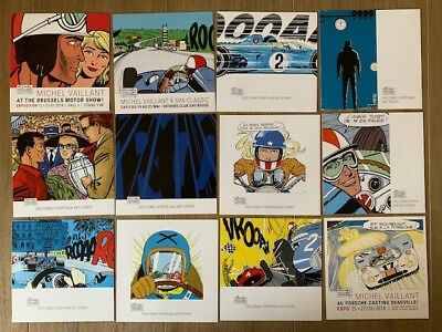 Lot de 12 cartes Michel Vaillant Art Strips