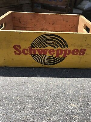 Schweppes Timber Crate Nice Graphics Both Sides