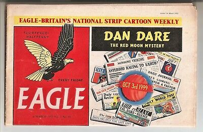 Eagle Comic Vol.2 No.49 1952 - Tintin/DanDare/Helicopter Cutaway/Tommy Walls