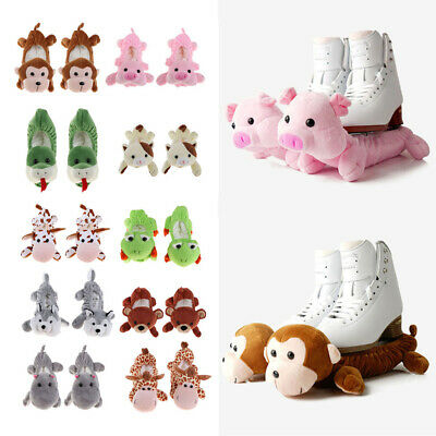 1Pair Animal Ice Hockey Figure Skate Terry Cloth Blade Covers Soakers Guards