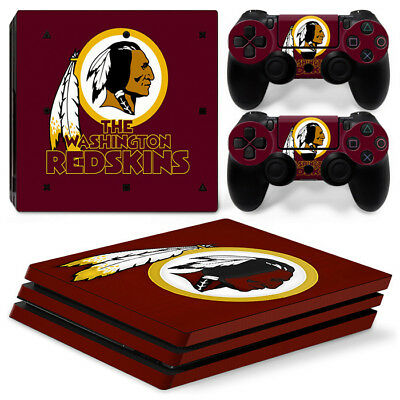 Precise Washington Redskins Nfl Football Super Skin Sticker For Playstation 4 Pro Ps4 Faceplates, Decals & Stickers
