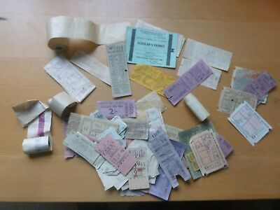 Vintage bus tickets - 1960s - Edinburgh, South Wales and elsewhere