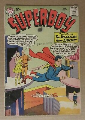 Superboy #81  (1960, DC) VG 4.0...Free Shipping!!!