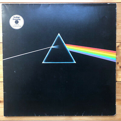 PINK FLOYD the dark side of the moon rare white vinyl LP posters postcard