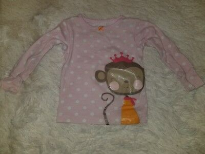 Girls Carters 18 Months Pink White Polka Dot Monkey Shirt Clothing, Shoes & Accessories